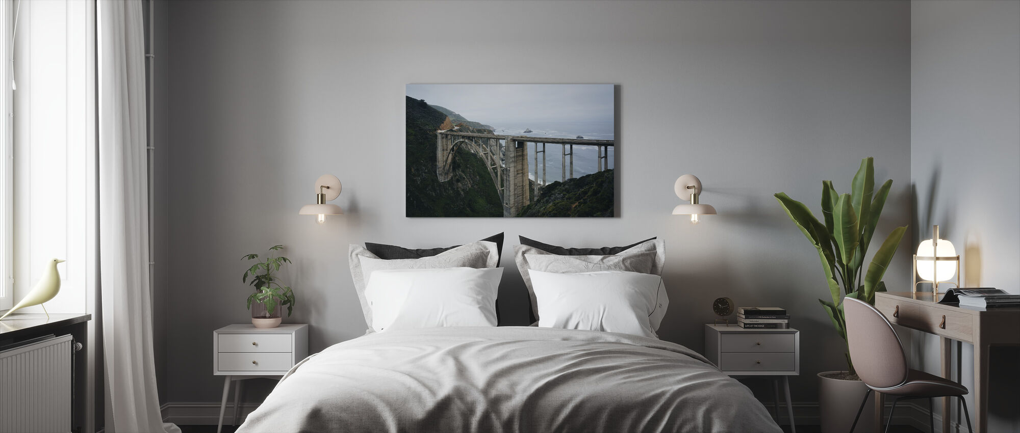 Bixby Creek Bridge - Canvas print - Bedroom