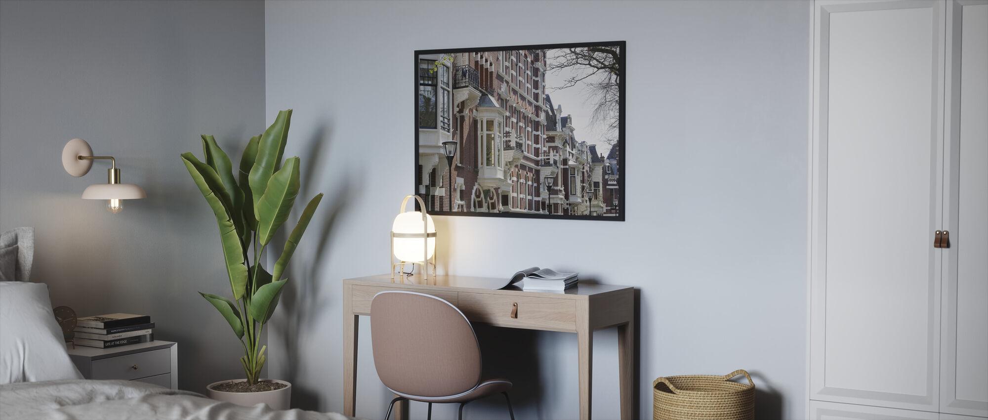 Kralingen in Rotterdam - Framed print - Bedroom