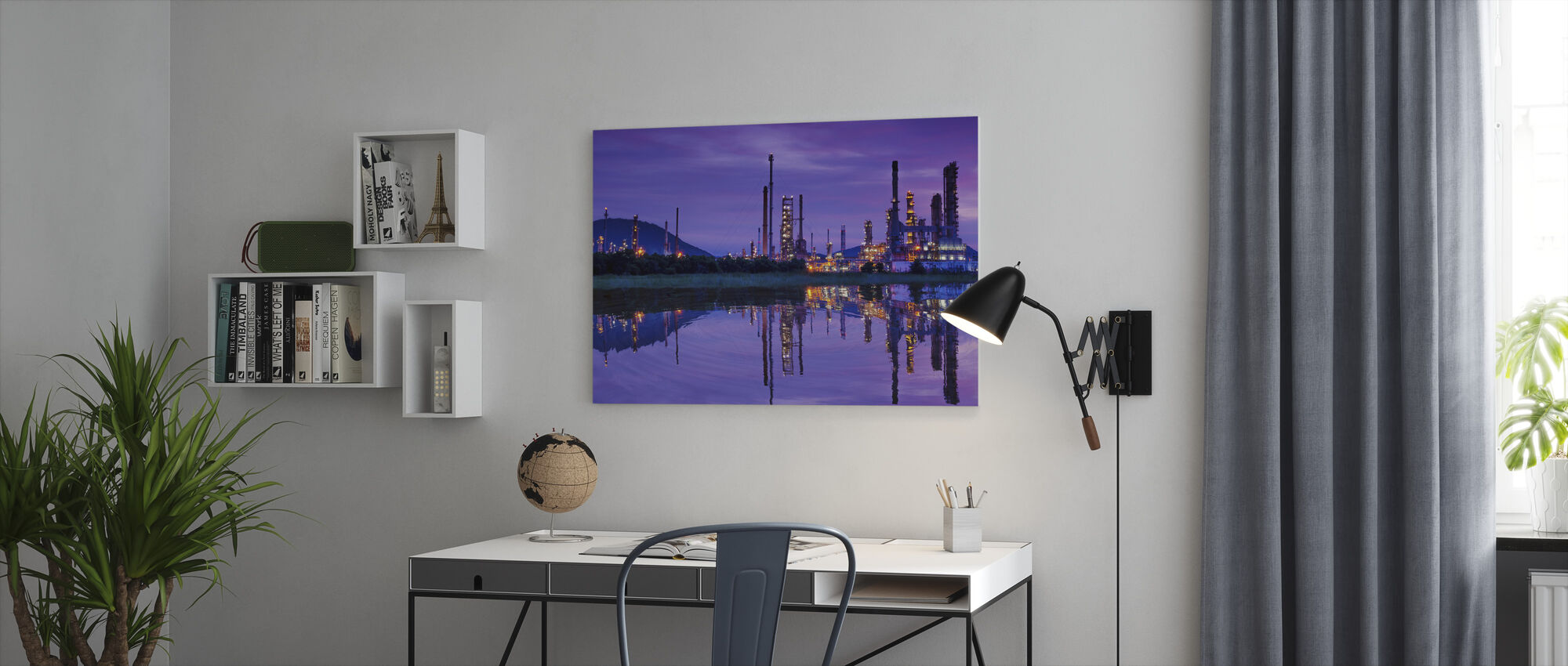 Petrochemical Industry - Canvas print - Office