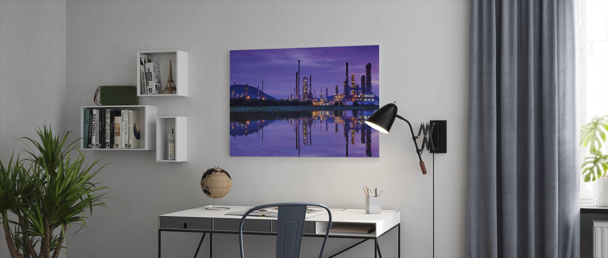 Petrochemische industrie - Canvas print - Kantoor