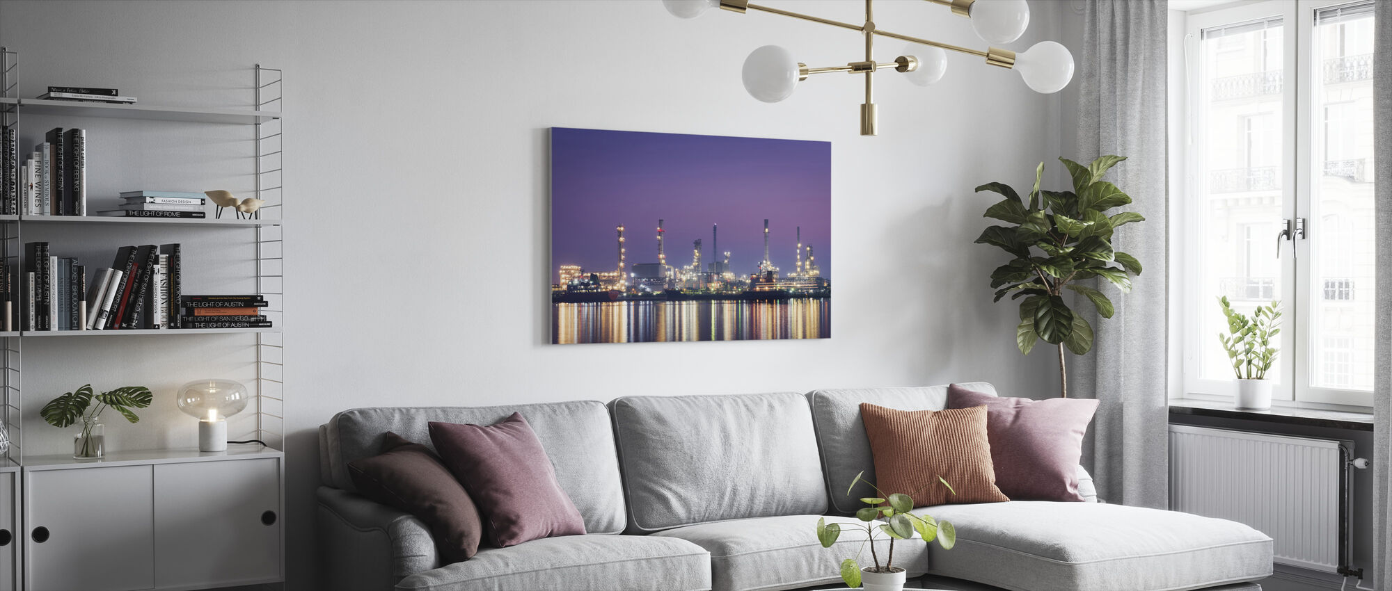 Petroleum Morning - Canvas print - Living Room