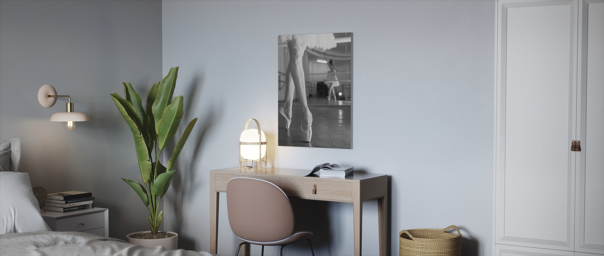 Prima Ballerina, musta ja valkoinen - Canvastaulu - Toimisto