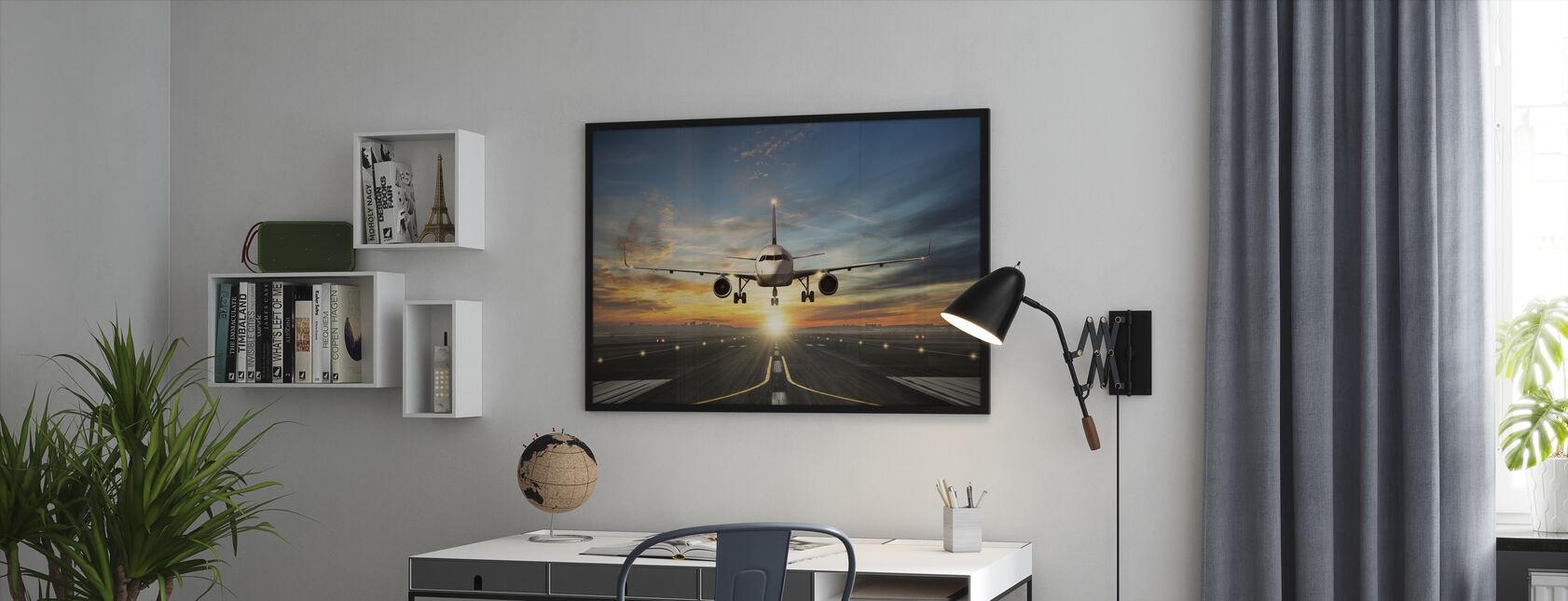 Sunset Inflight - Framed print - Office