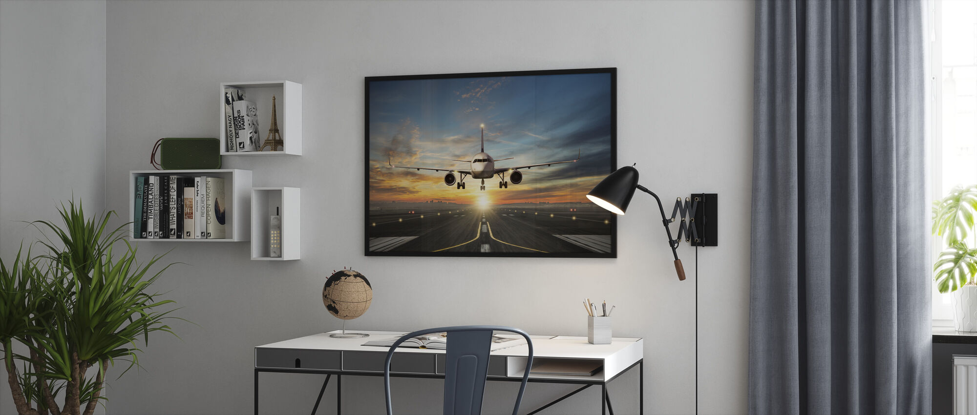 Sunset Inflight - Framed print - Office