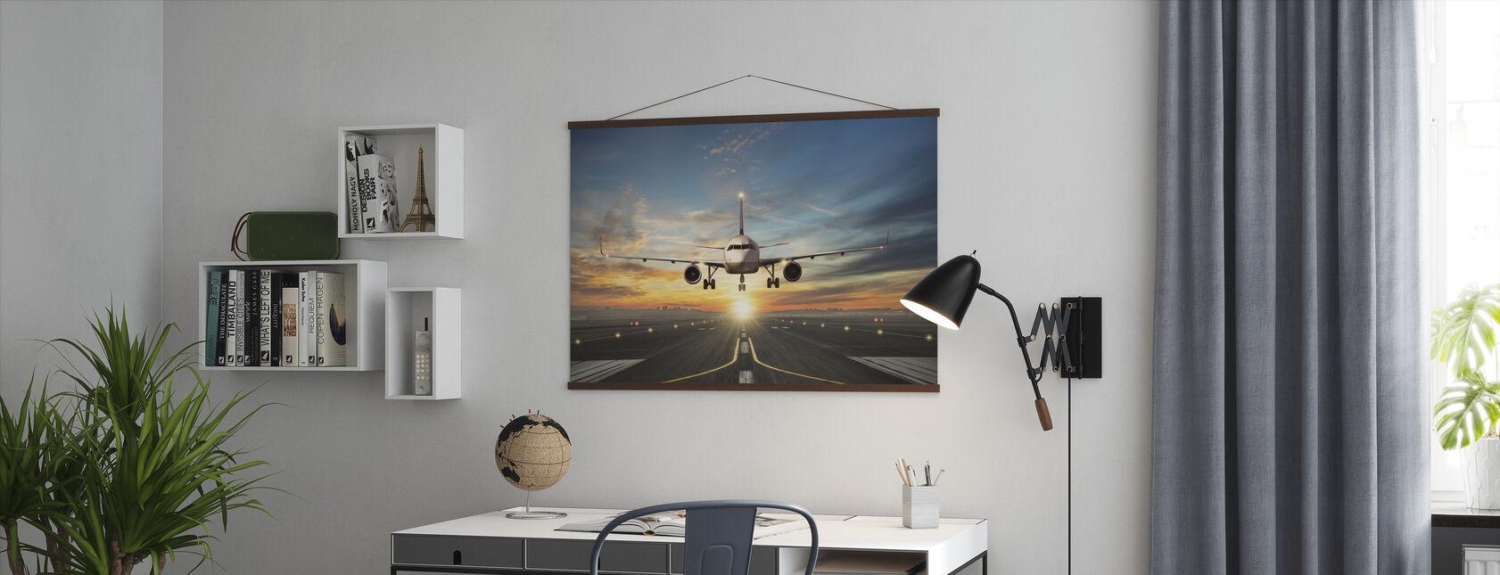 Sunset Inflight - Poster - Office