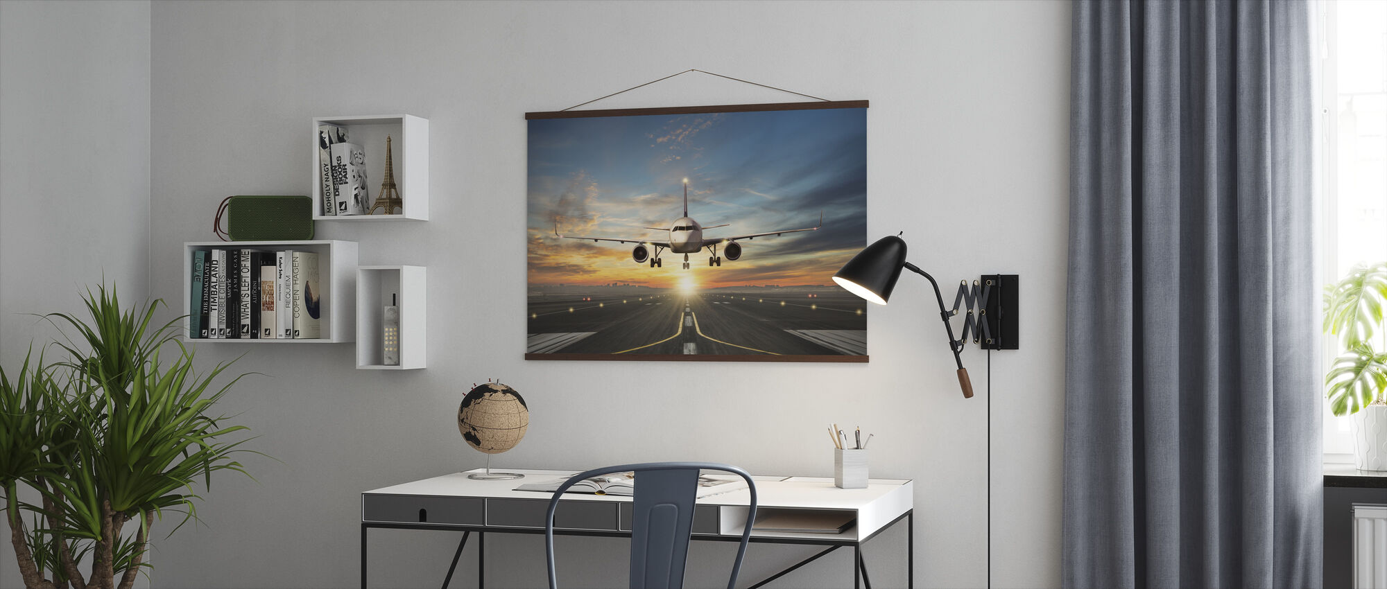 Sunset Inflight - Poster - Office