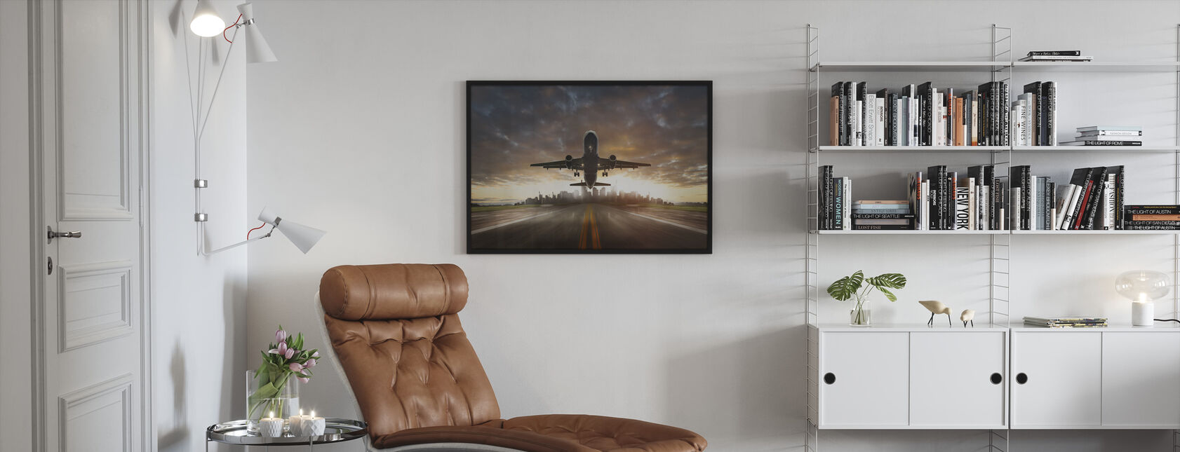 Take Off - Framed print - Living Room