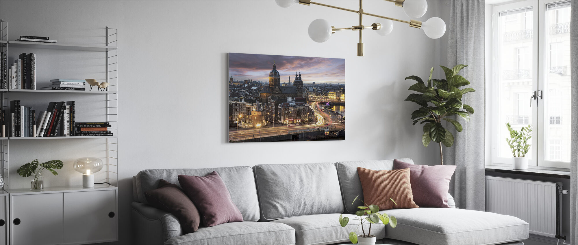 Basilica Saint Nicolas Church in Amsterdam - Canvas print - Living Room