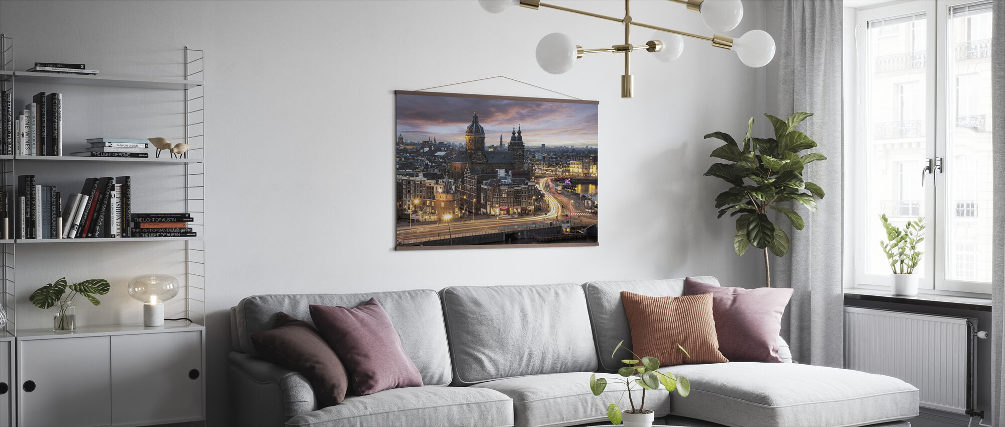 Basilica Saint Nicolas Church in Amsterdam - Poster - Living Room