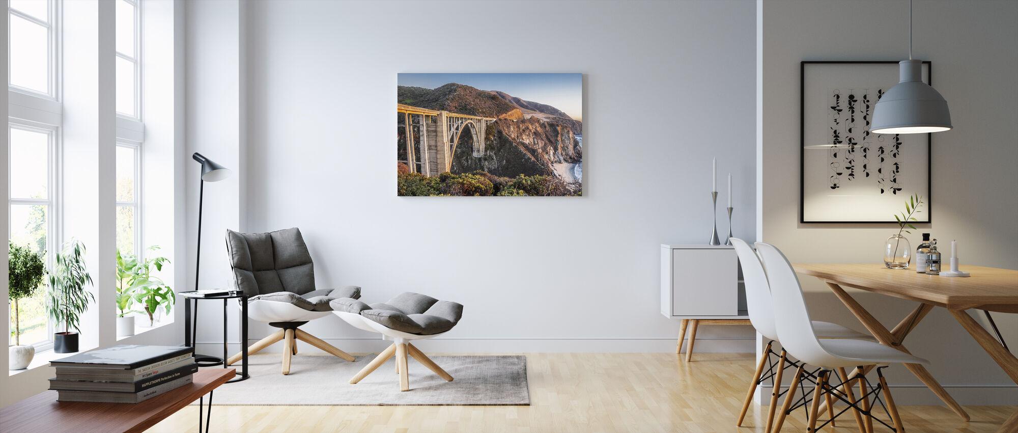 Bixby Bridge Sunset - Canvas print - Living Room