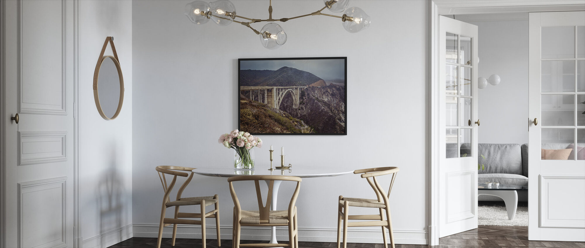 Bixby Bridge Vintage Look - Framed print - Kitchen