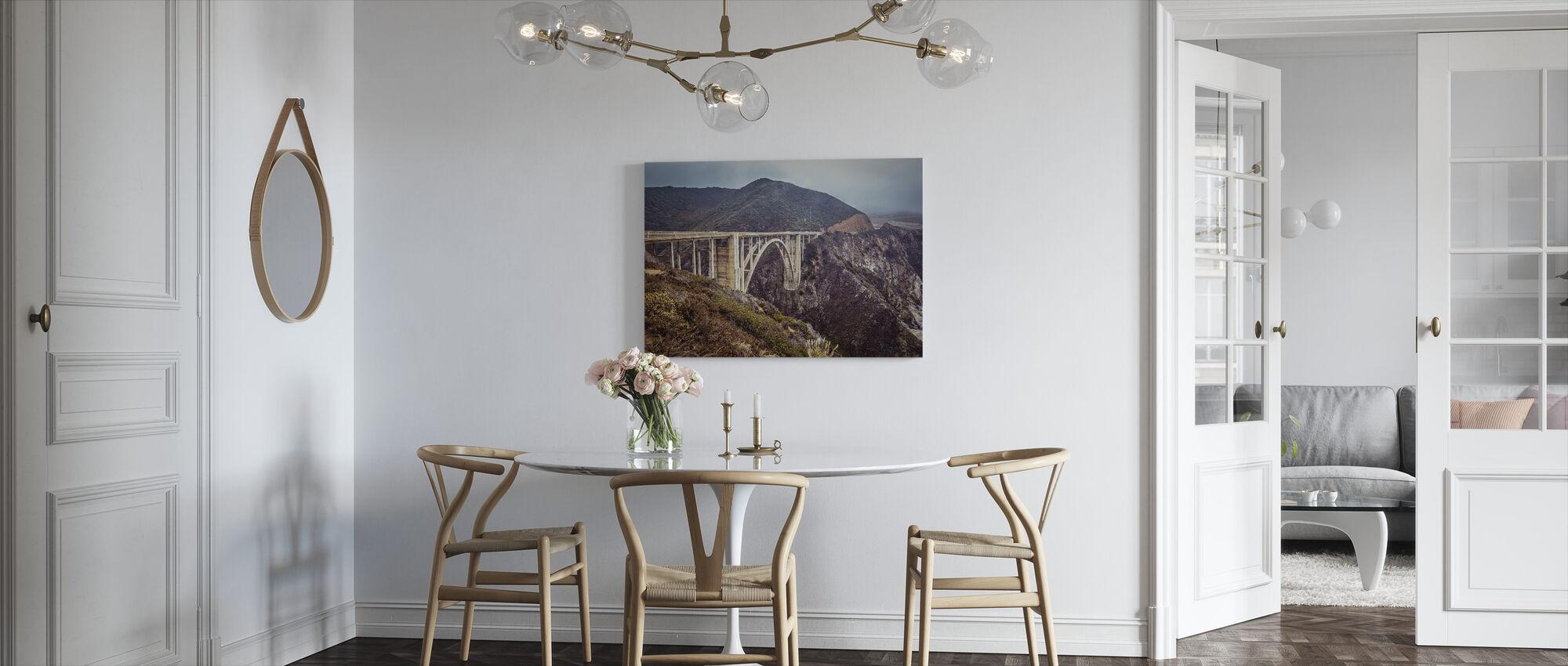 Bixby Bridge Vintage Look - Leinwandbild - Küchen