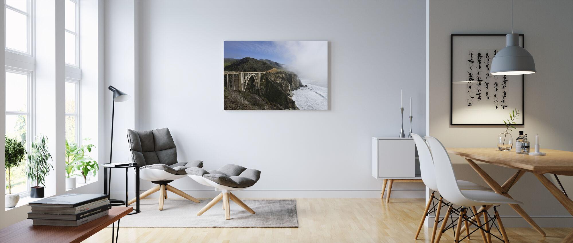 Californian Waves at Bixby Bridge - Canvas print - Living Room
