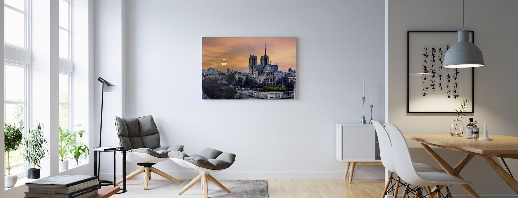 Gothic Pariisi - Canvastaulu - Olohuone