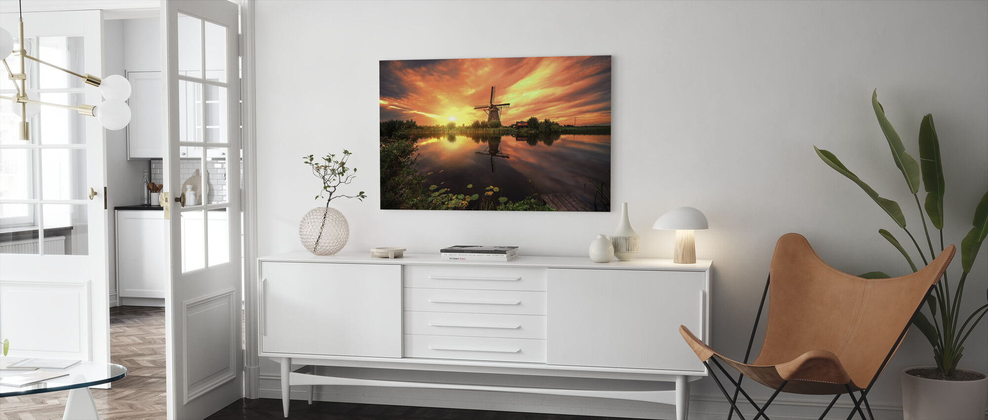 Kinderdijk Magic - Canvas print - Woonkamer