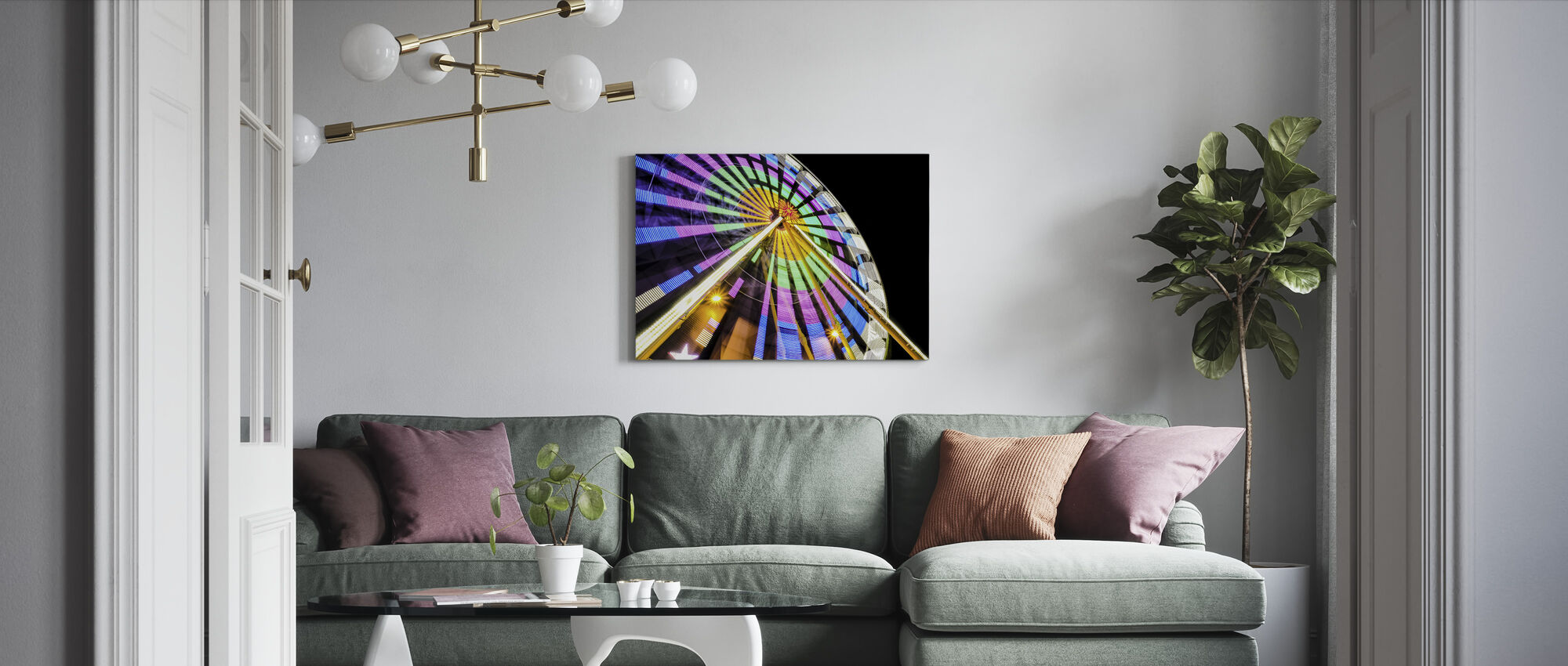 Rainbow Wheel - Canvas print - Living Room