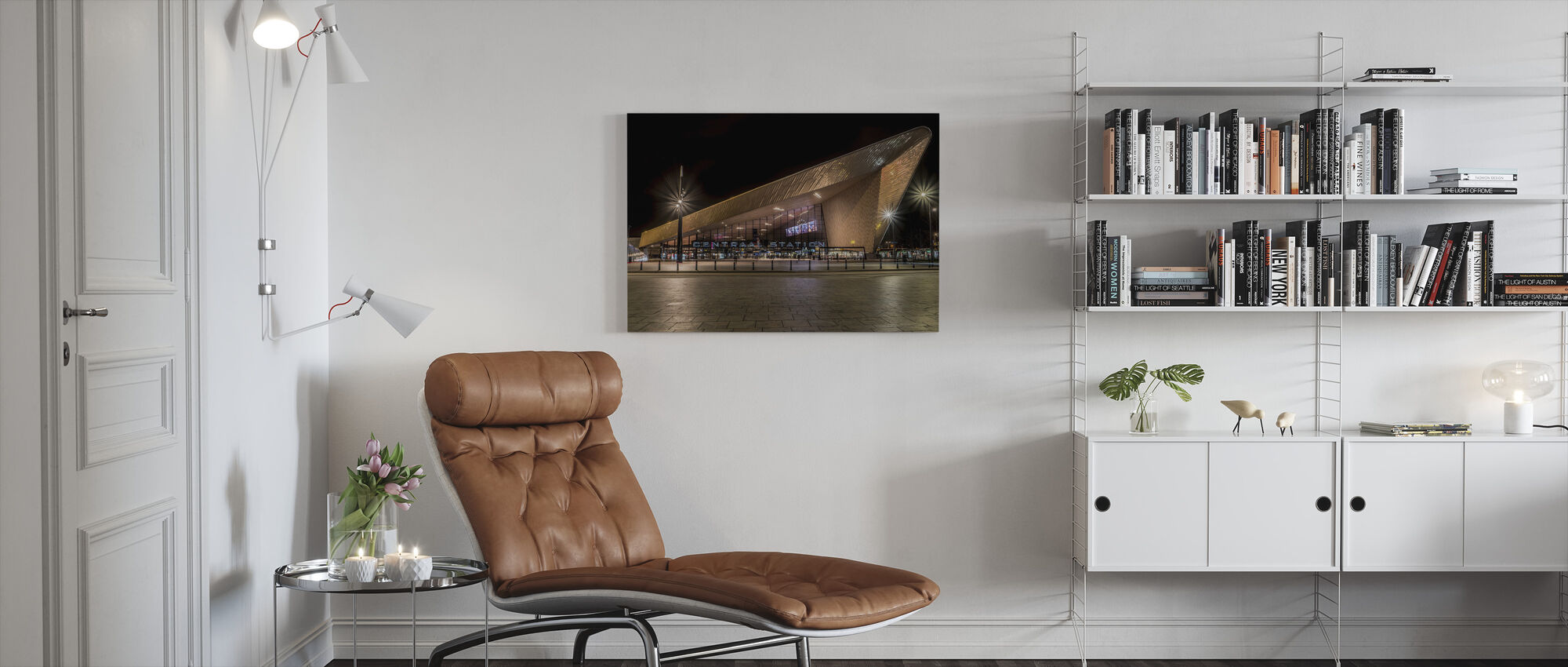 Rotterdam Central Station - Canvas print - Living Room