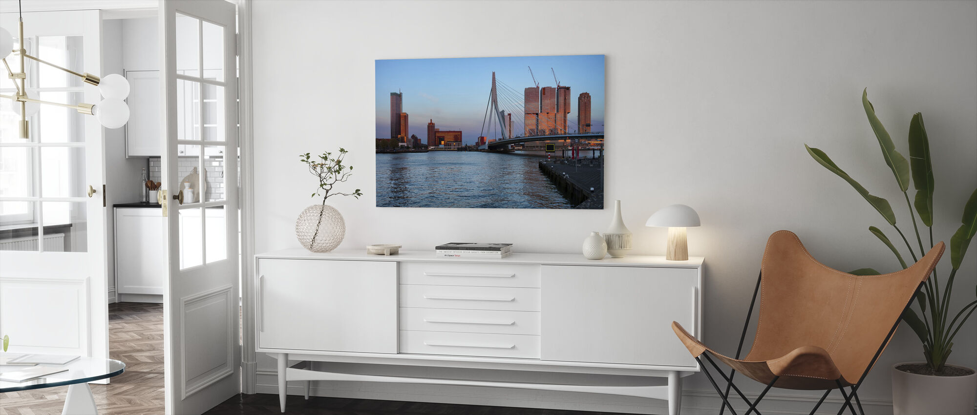 Rotterdam Silhouette - Canvas print - Living Room