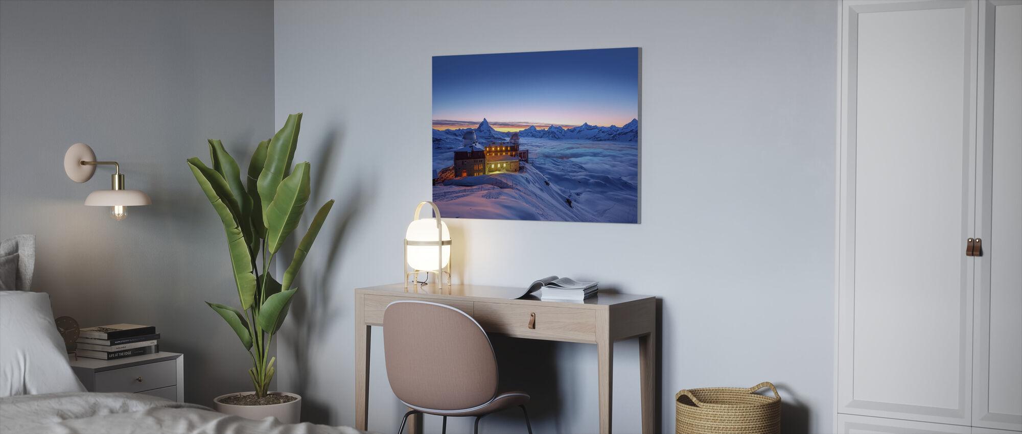 Twilight Stay at Matterhorn Peak - Canvas print - Office