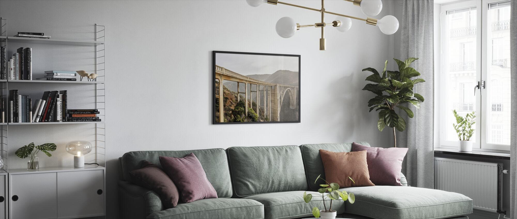 White Bixby Creek Bridge - Framed print - Living Room