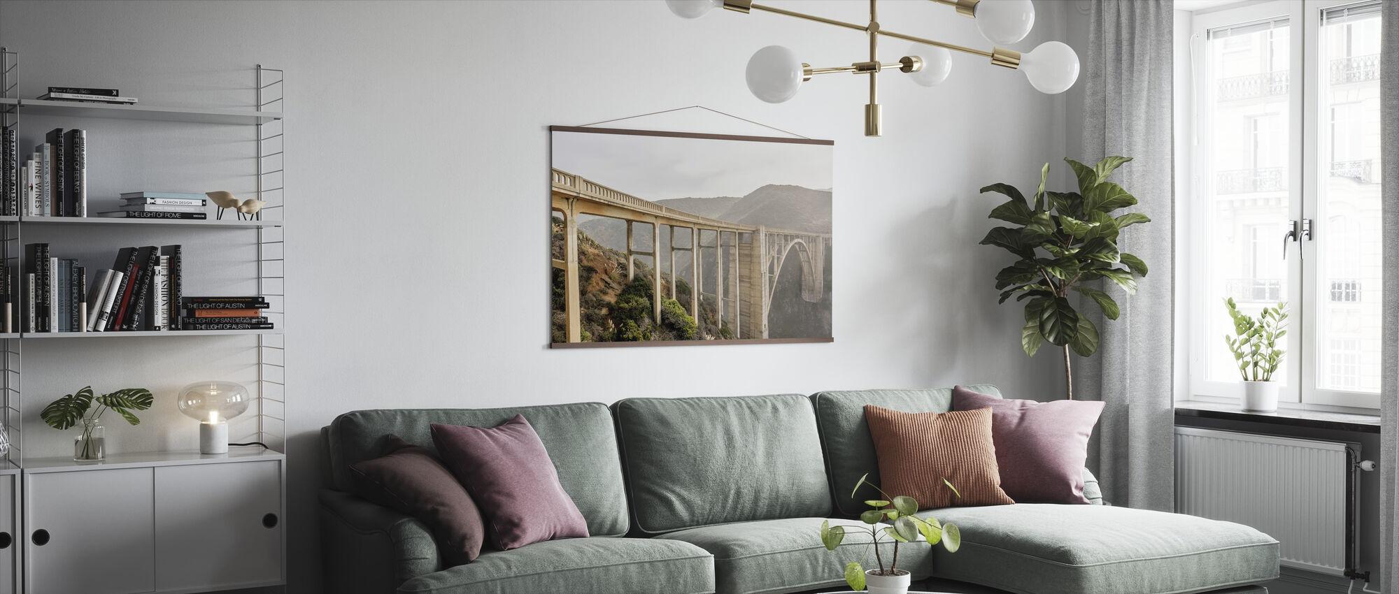 White Bixby Creek Bridge - Poster - Living Room