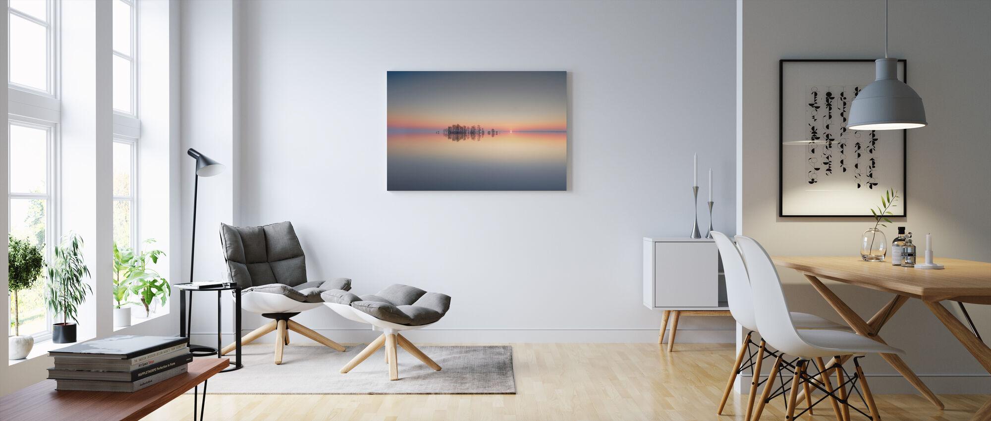 Zonsopgang bij Lake Mattamuskeet - Canvas print - Woonkamer
