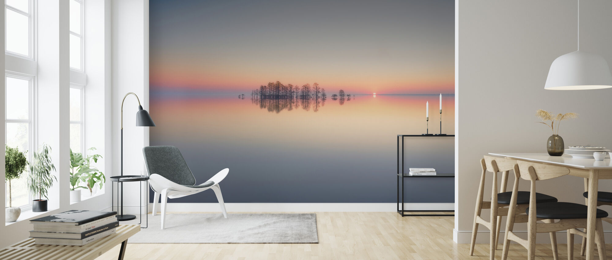 Dawn at Lake Mattamuskeet - Wallpaper - Living Room