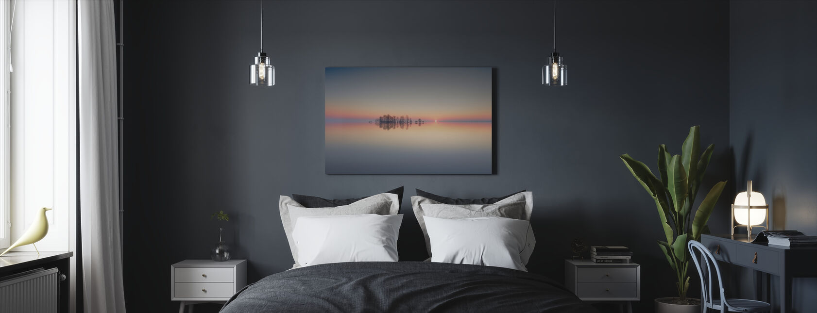 Dawn at Lake Mattamuskeet - Canvas print - Bedroom