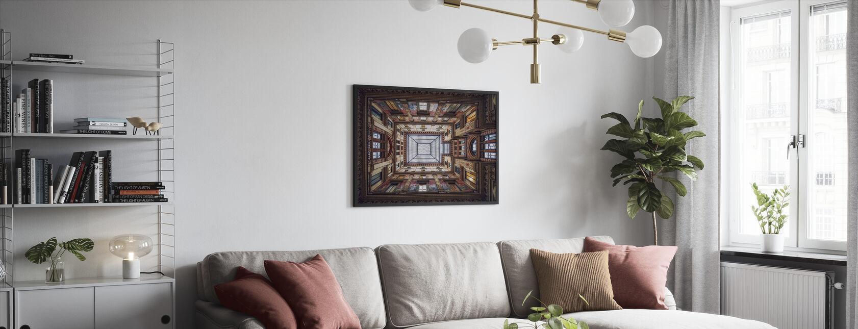 Galleria Sciarra, Rome - Framed print - Living Room