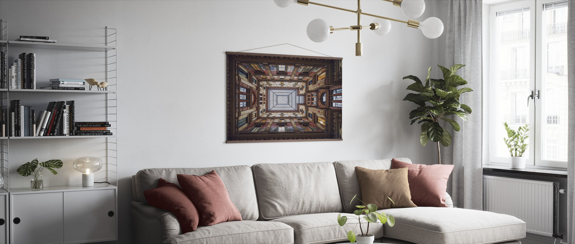 Galleria Sciarra, Rome - Poster - Living Room