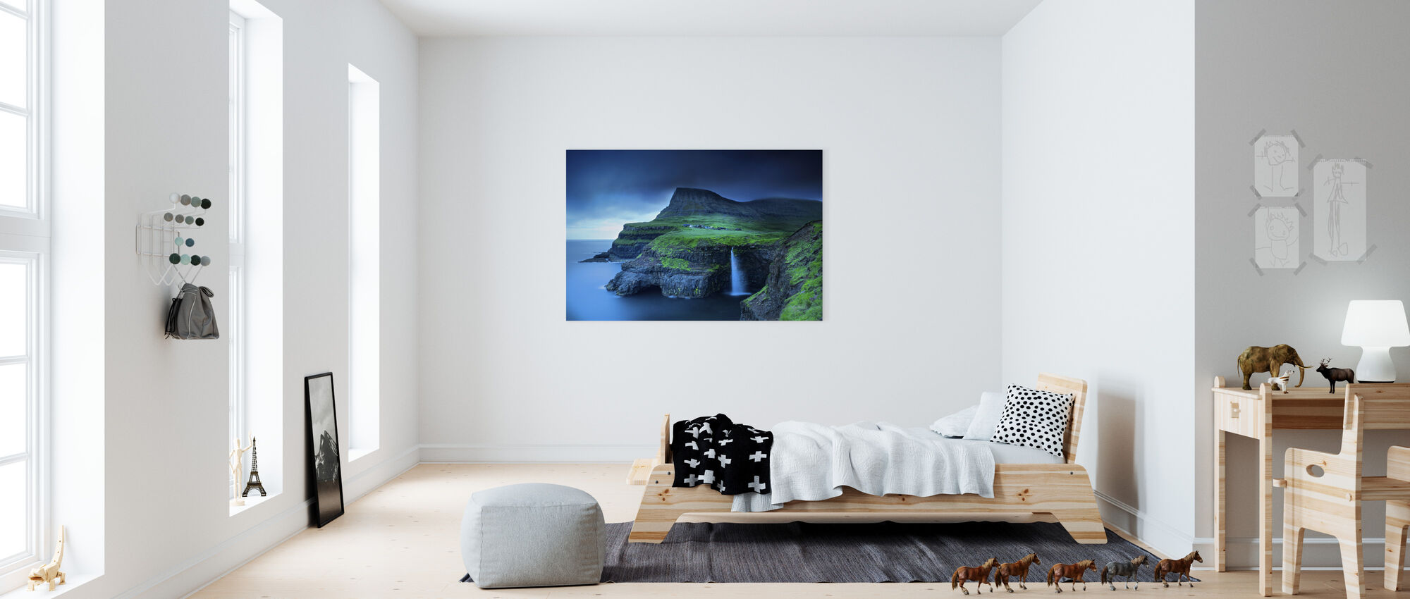 Gasadalur - Canvas print - Kids Room