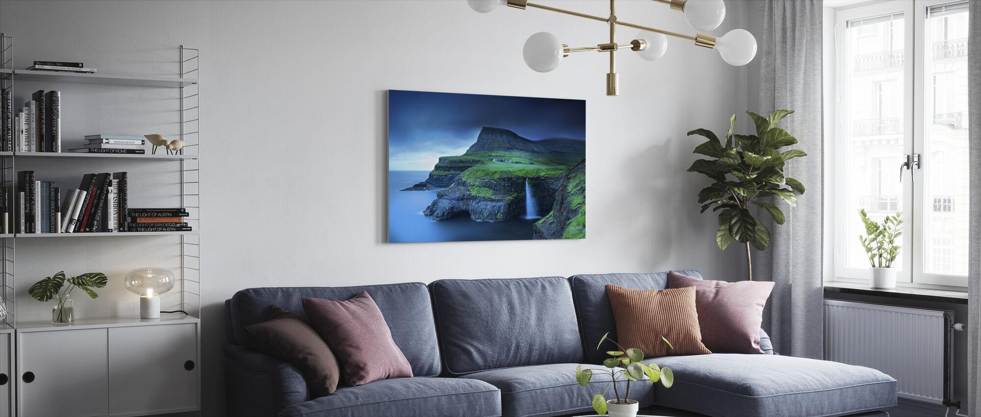 Gasadalur - Canvas print - Living Room