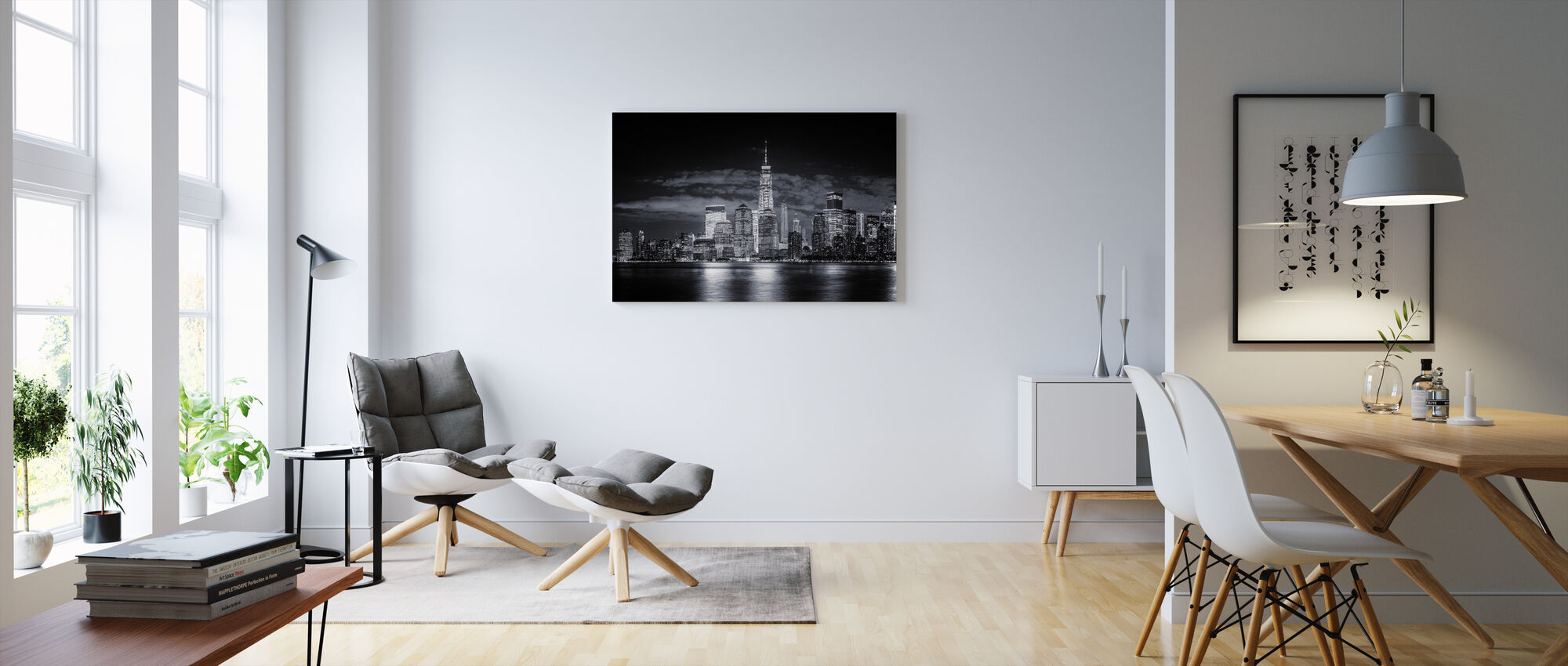 Gotham, black and white - Canvas print - Living Room
