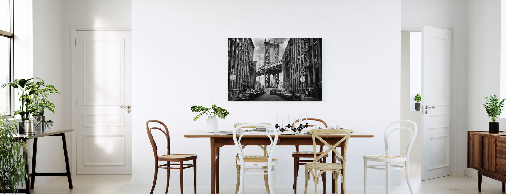 In America, black and white - Canvas print - Kitchen