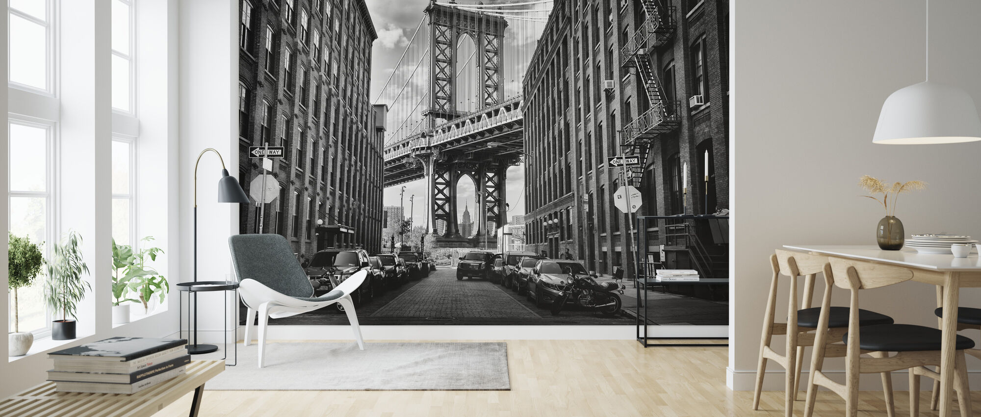 In America, black and white - Wallpaper - Living Room