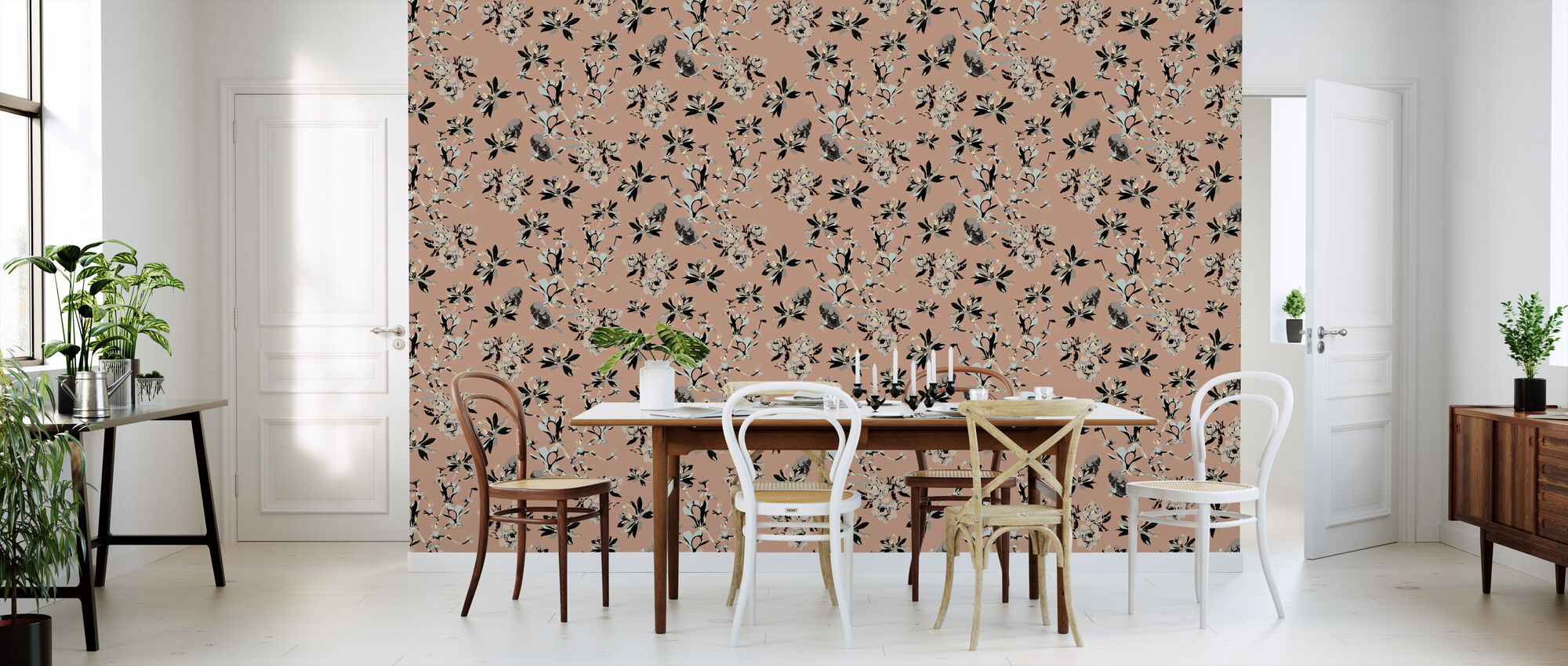 mothers magnolia pink mit tapeten einrichten photowall. Black Bedroom Furniture Sets. Home Design Ideas