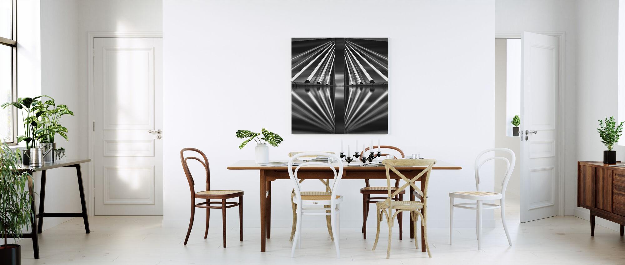 Pasupati Bridge, back and white - Canvas print - Kitchen