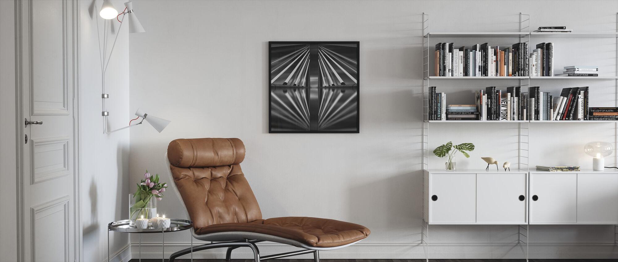 Pasupati Bridge, back and white - Framed print - Living Room