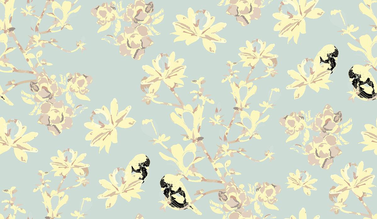 Mothers magnolia softish papel pintado personalizado y for Papel pintado personalizado
