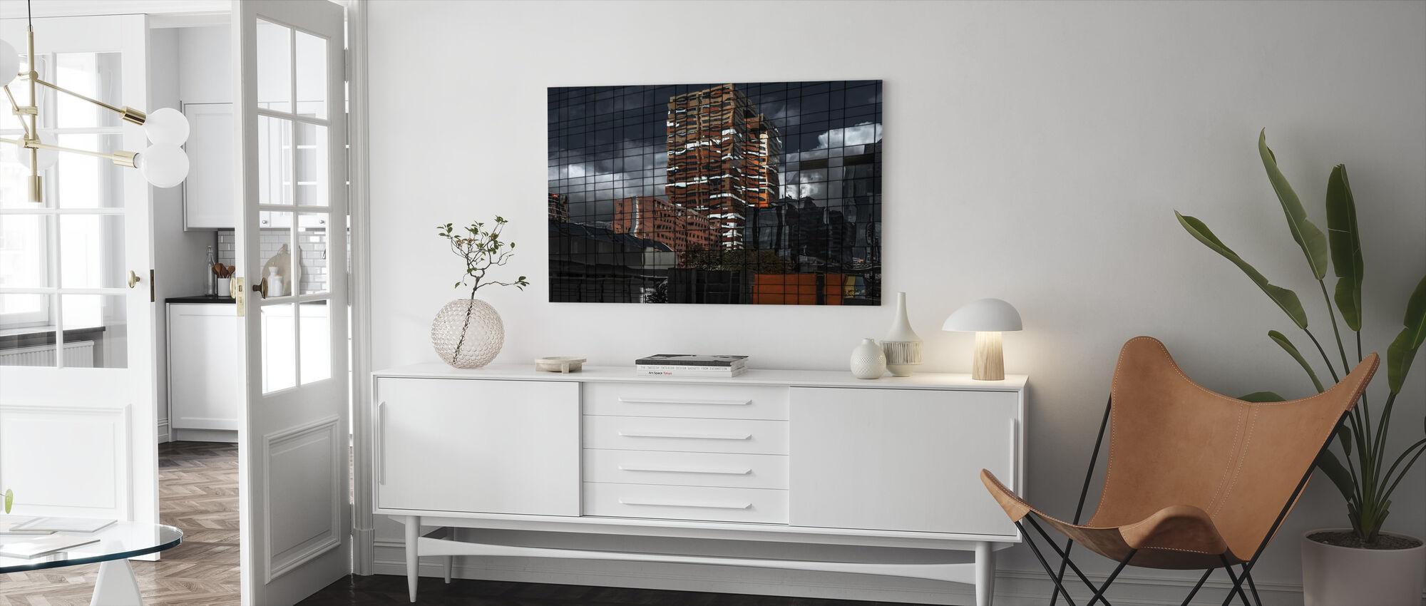 Puzzel Reflectie - Canvas print - Woonkamer