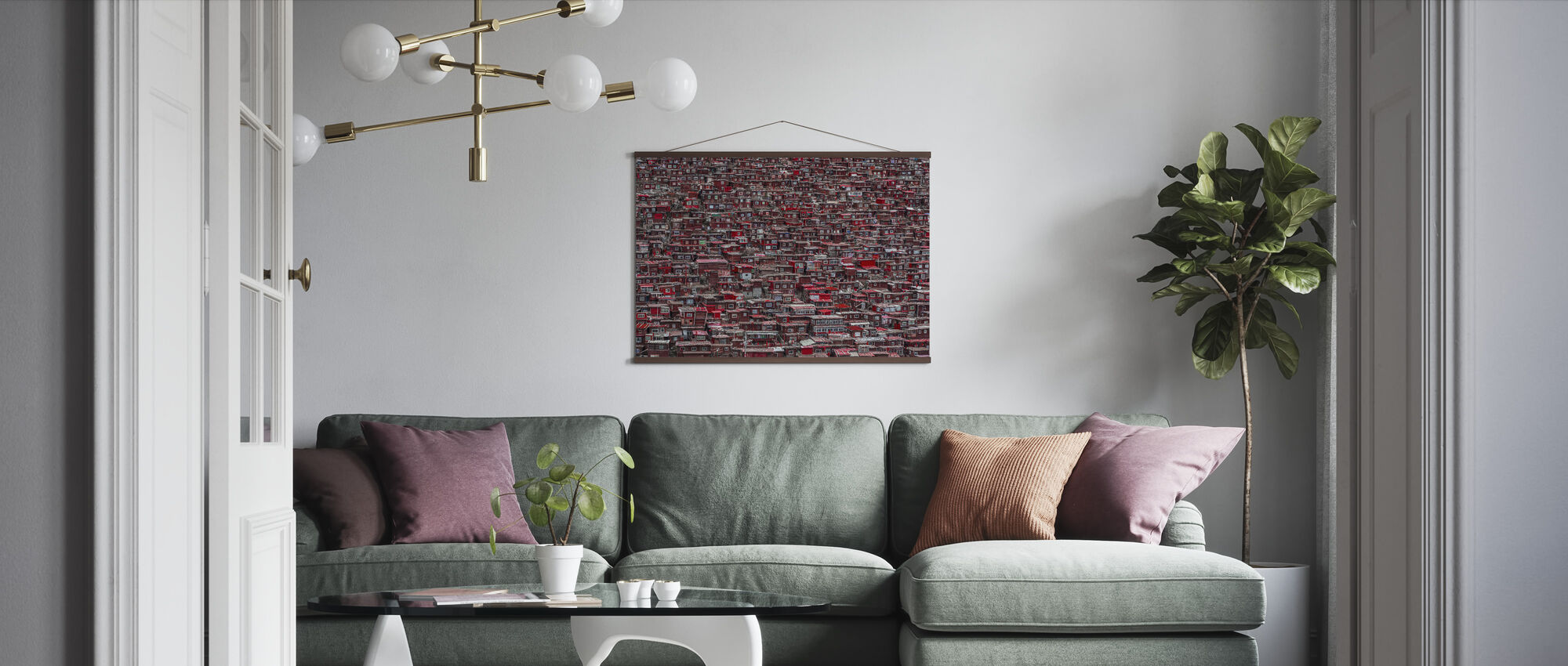 Red Houses - Poster - Living Room
