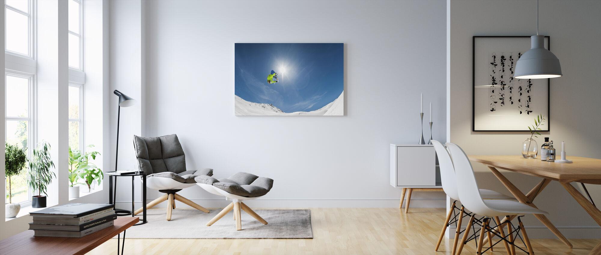 Backflip Crossed Skis - Canvas print - Living Room