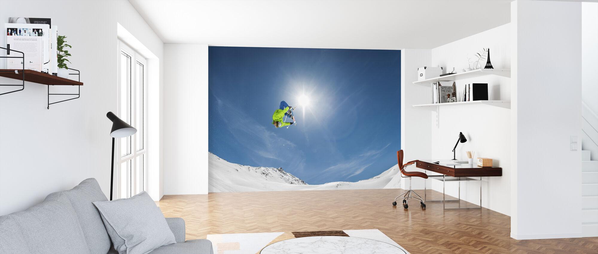 Backflip Crossed Skis - Wallpaper - Office