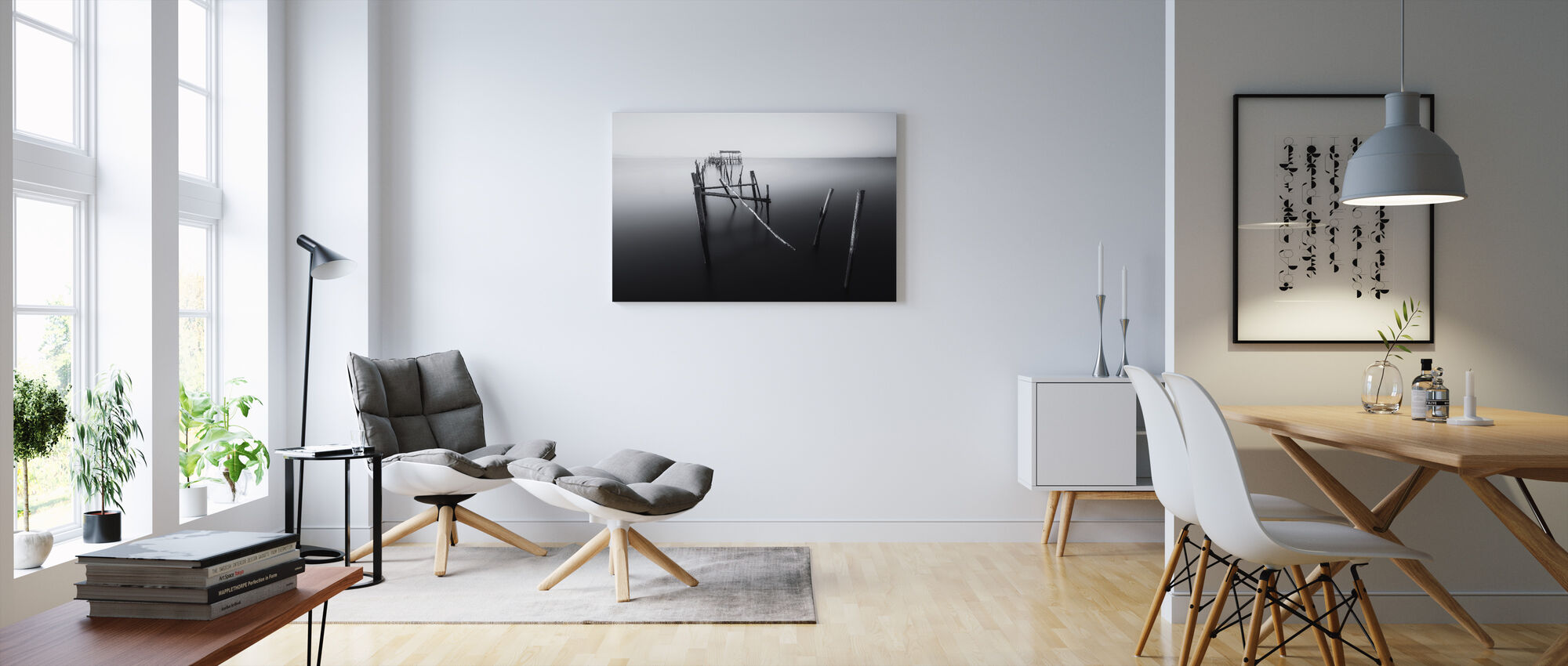 Carrasqueira, Floating Lands, black and white - Canvas print - Living Room