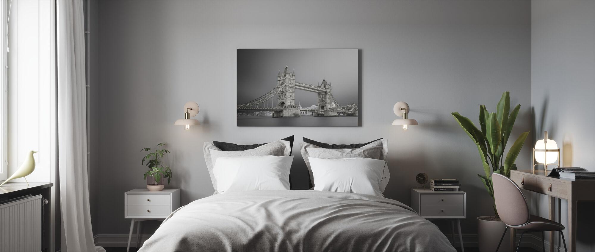Grå Tower Bridge - Canvastavla - Sovrum