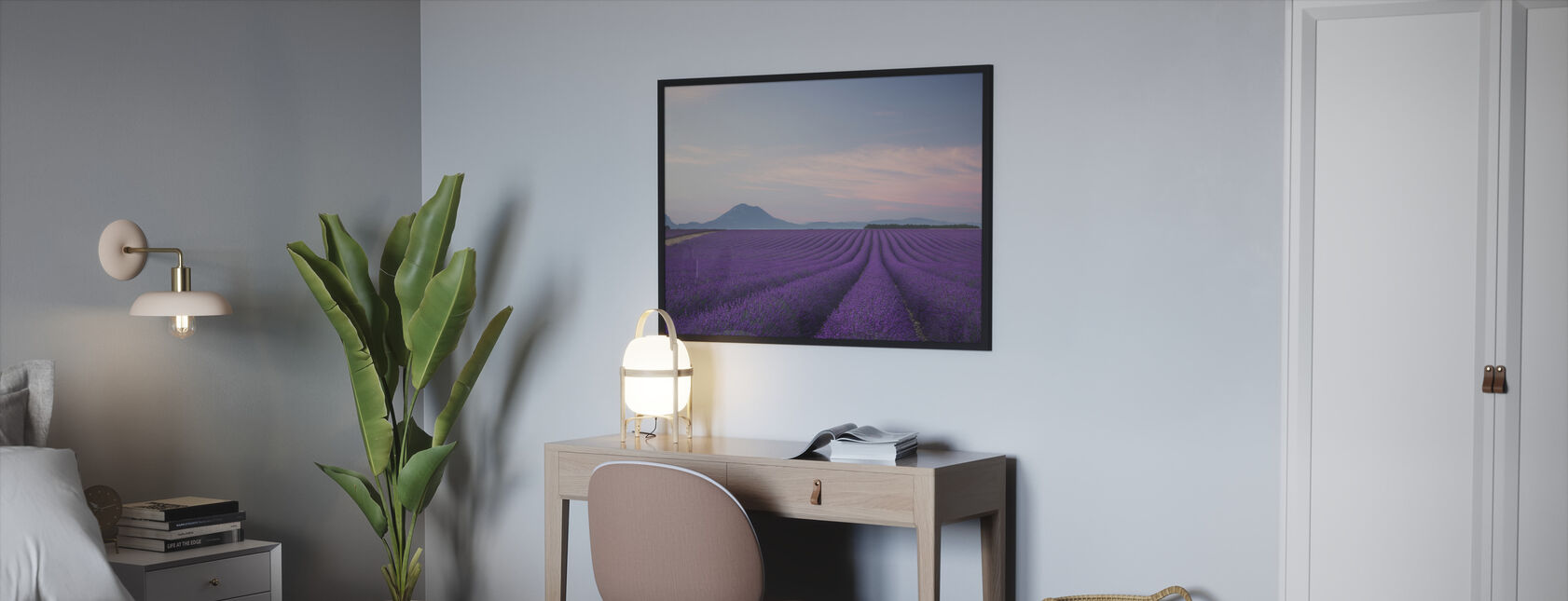 Lavender field - Framed print - Bedroom