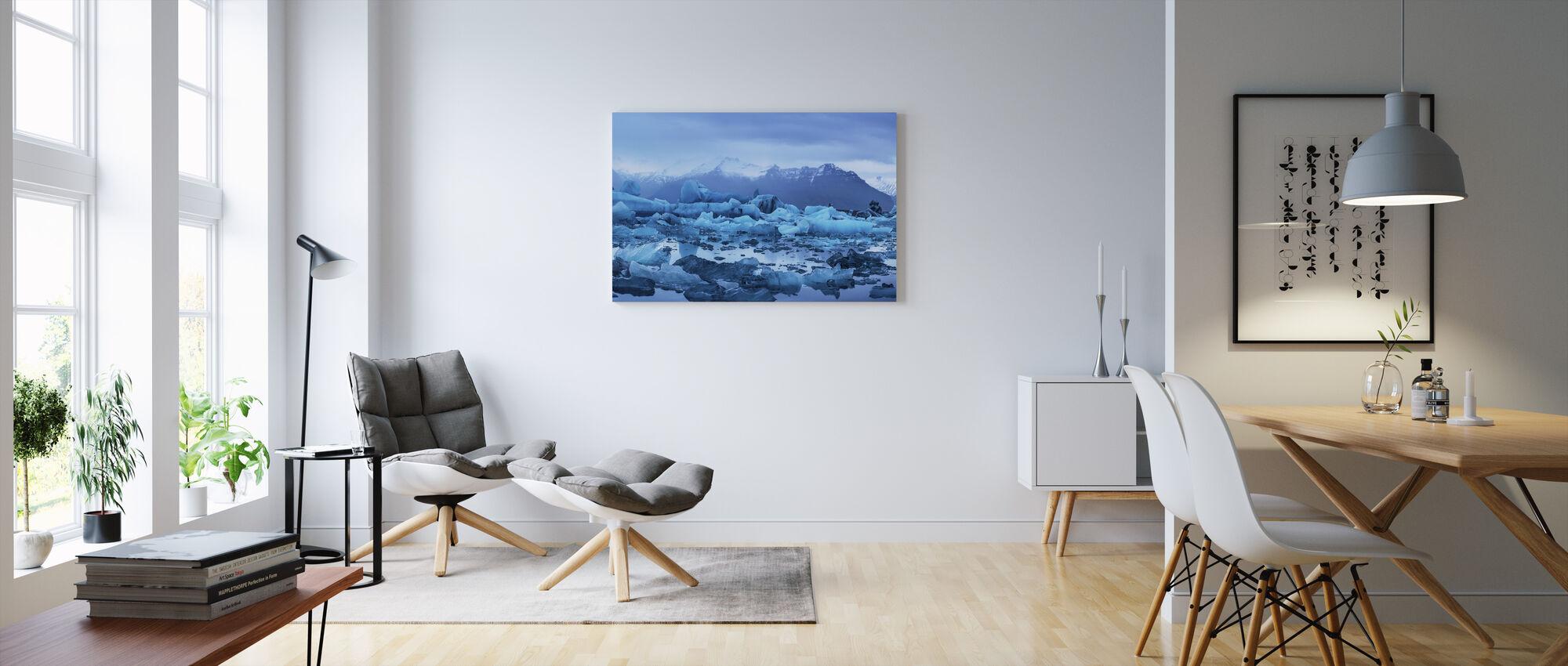 Ljus från Island - Canvastavla - Vardagsrum