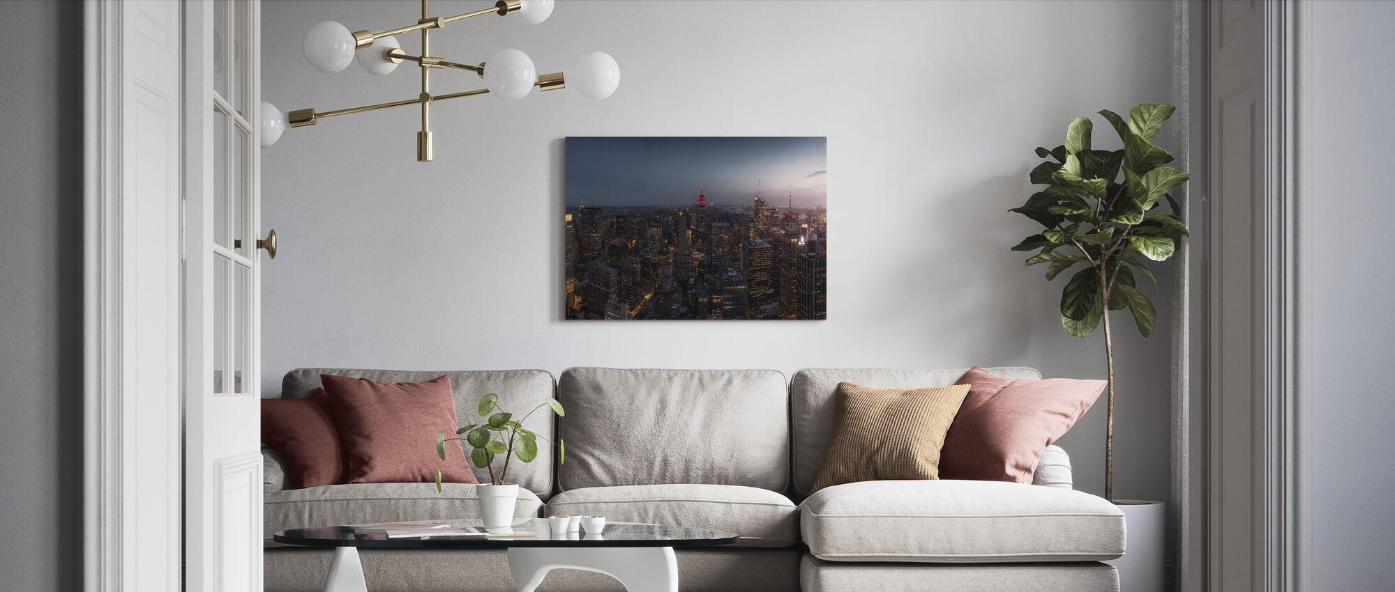 New Yorks ljus - Canvastavla - Vardagsrum