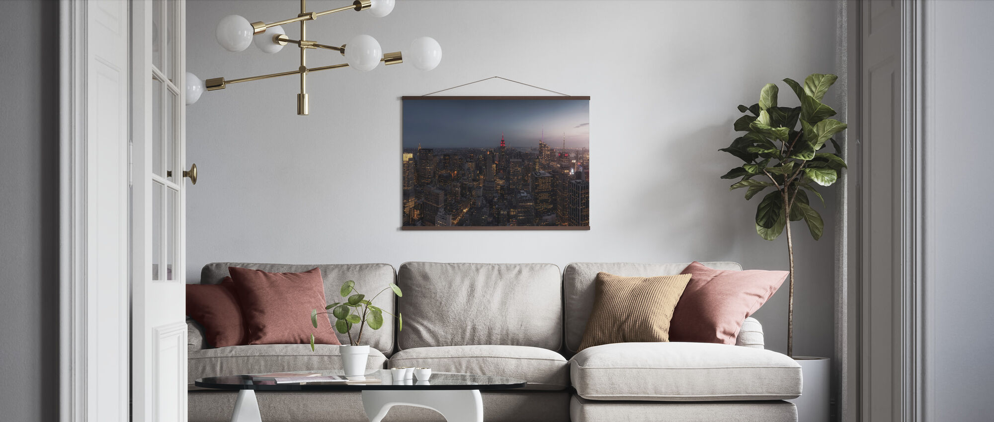 Lichten van New York - Poster - Woonkamer