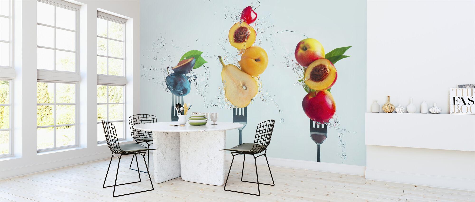 Göra fruktsallad - Tapet - Kök
